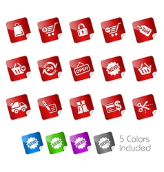 Shopping Stickers vector image vector image