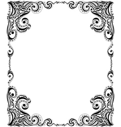 Template frame design for card Floral pattern vector image vector image