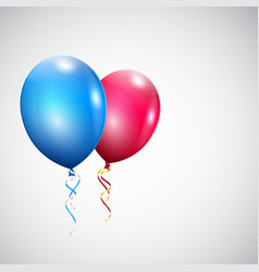 Two balloons vector image vector image