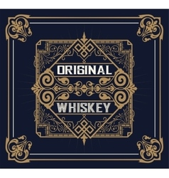 Vintage design for labels suitable for whiskey or vector