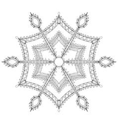 Zentangle stylized winter snowflake for Christmas vector image vector image