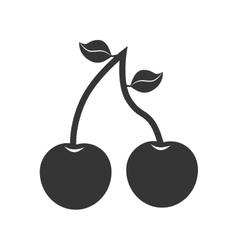 Cherry fruit dessert icon graphic vector