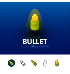 Bullet icon in different style vector