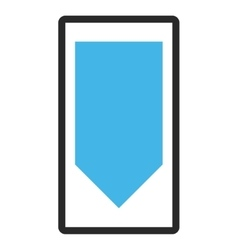 Direction down framed icon vector