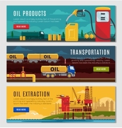 Petroleum industry horizontal banners set vector