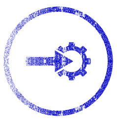 Cog integration grunge textured icon vector