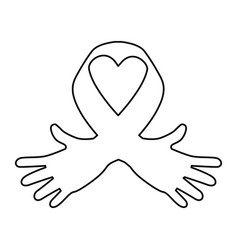 Ribbon cancer symbol vector