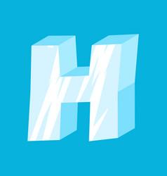 Letter h ice font icicles alphabet freeze vector