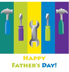 Happy fathers day card in format vector