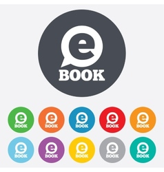 E-book sign icon electronic book symbol vector