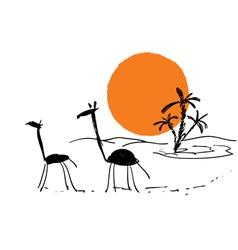 Scribbles african sketch vector
