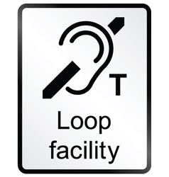 Loop facility information sign vector