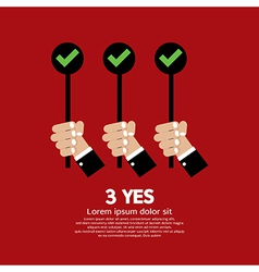 Yes three choices vector