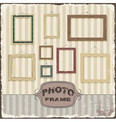Vintage photo frame template vector