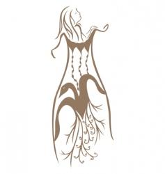 women undress vector image