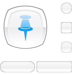 Drawing-pin white button vector