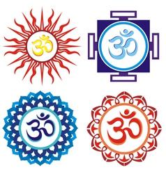 Om symbols vector image