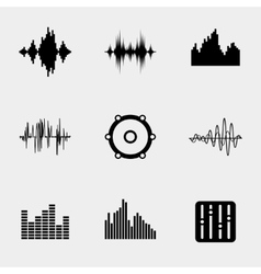 Soundwave music icons vector