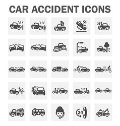 Car accident icon vector