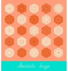 set of mandala design circle ornament collection vector image