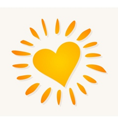 Love sun logo vector