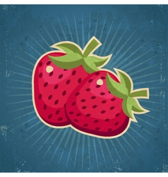 Retro strawberries vector