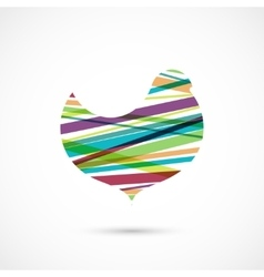 Color stripes bird vector