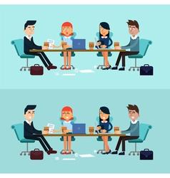 Horizontal Banners Business Meeting Teamwork vector image