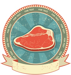 Meat label set vector