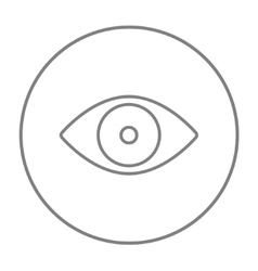 Eye line icon vector