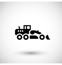 Road grader icon vector