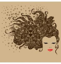 grunge vintage girl vector image