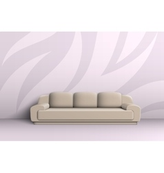 Three seater sofa in the room vector