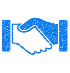 Acquisition handshake icon grunge watermark vector