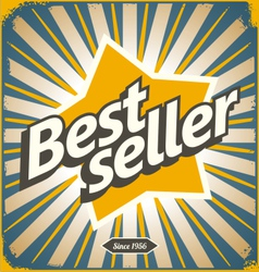 Bestseller retro tin sign design vector