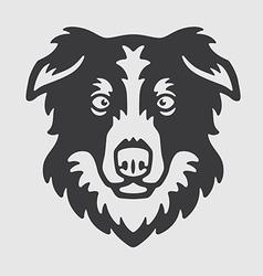 Border collie head logo mascot emblem vector