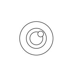 bulls eye icon target solid logo vector image
