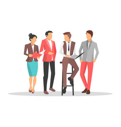 business people disscussing on vector image
