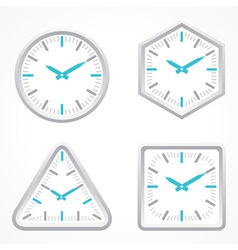 clock with different shape vector image vector image