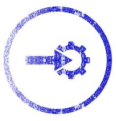 Cog integration grunge textured icon vector