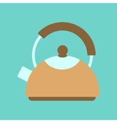 flat icon on background coffee dishware kettle vector image vector image
