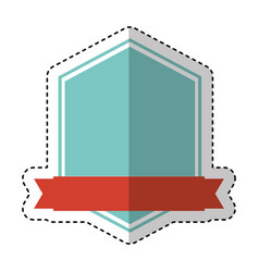 frame seal with ribbon isolated icon vector image