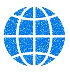 Globe grainy texture icon vector