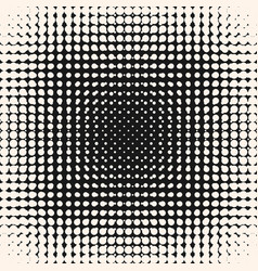 halftone circles pattern monochrome texture vector image vector image