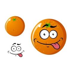 Happy smiling cartoon orange fruit vector image vector image