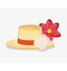 hat of summer and vacation design vector image vector image