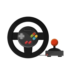 Isolated videogame wheel design vector