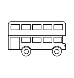 London bus isolated icon vector