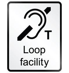 Loop facility information sign vector