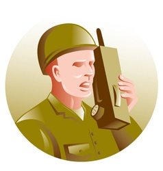 military soldier vector image